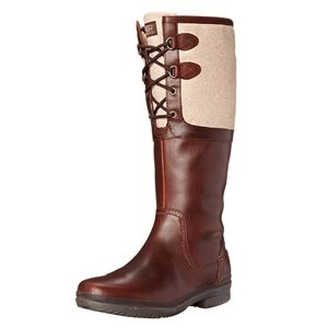 UGG Elsa Boots with Dark Brown Leather Size 6